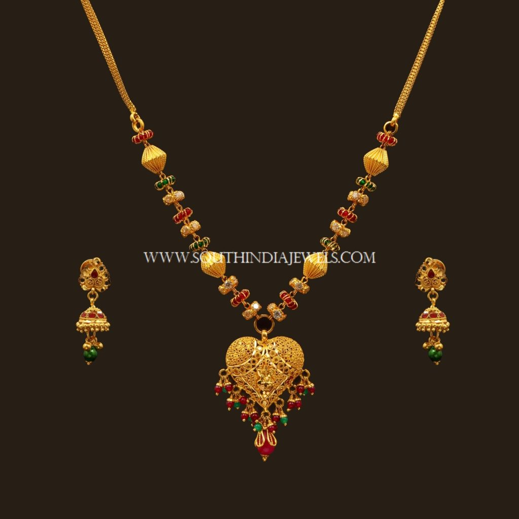 Latest Gold Necklace Set Designs With Price