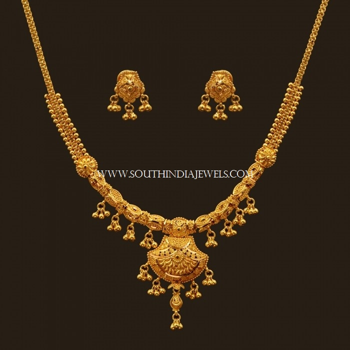 Indian Gold Jewellery Necklace Designs With Price: Latest Gold Necklace Set Designs With Price
