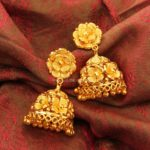 Simple Gold Floral Jhumkas