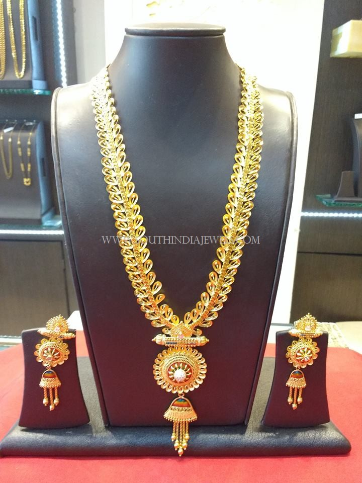105 Grams Gold Designer Long Necklace