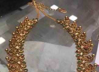 217 Grams Gold Antique Mango Necklace