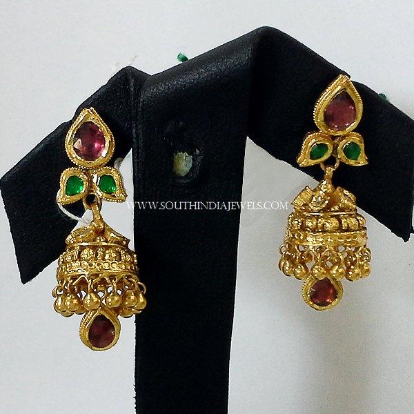 22k Gold Simple Jhumka from New Sri Vasavi