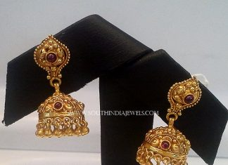 22K Plain Antique Jhumka