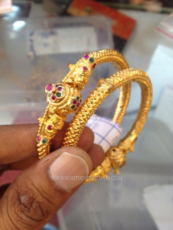 30 Grams Gold Bangles Designs South India Jewels
