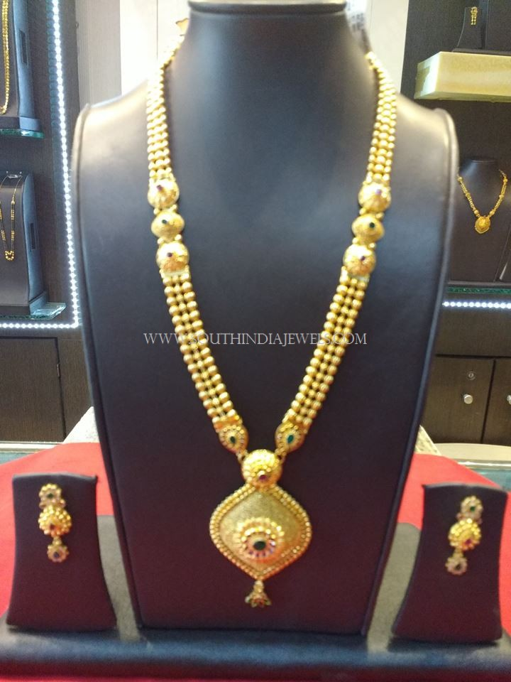 67 Grams Weight Gold Haram Set