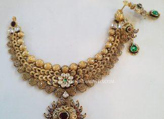 Gold Designer Choker From New Sri Vasavi Jewellers