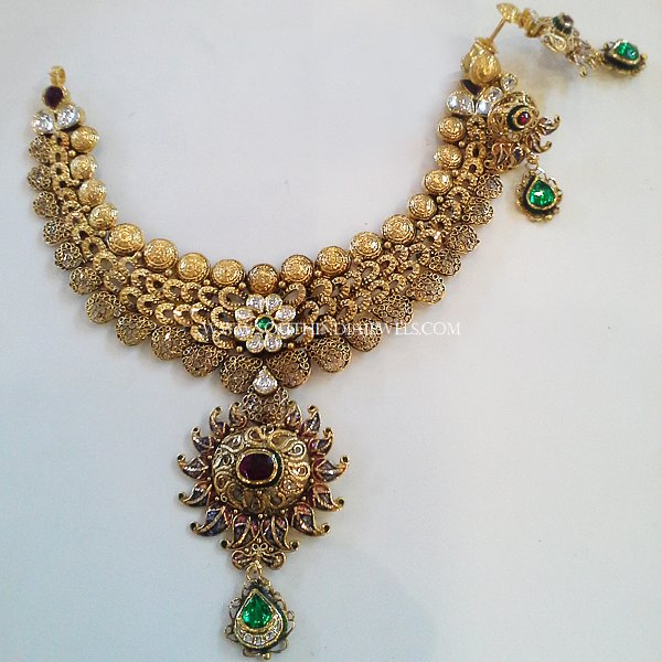 Gold Designer Choker From New Sri Vasavi Jewellers