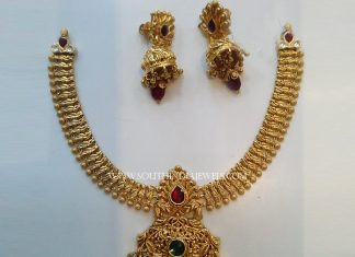 Gold Antique Attigai and Jhumka