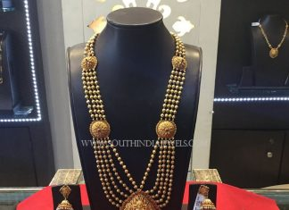 Gold Antique Gundala Haram With Weight