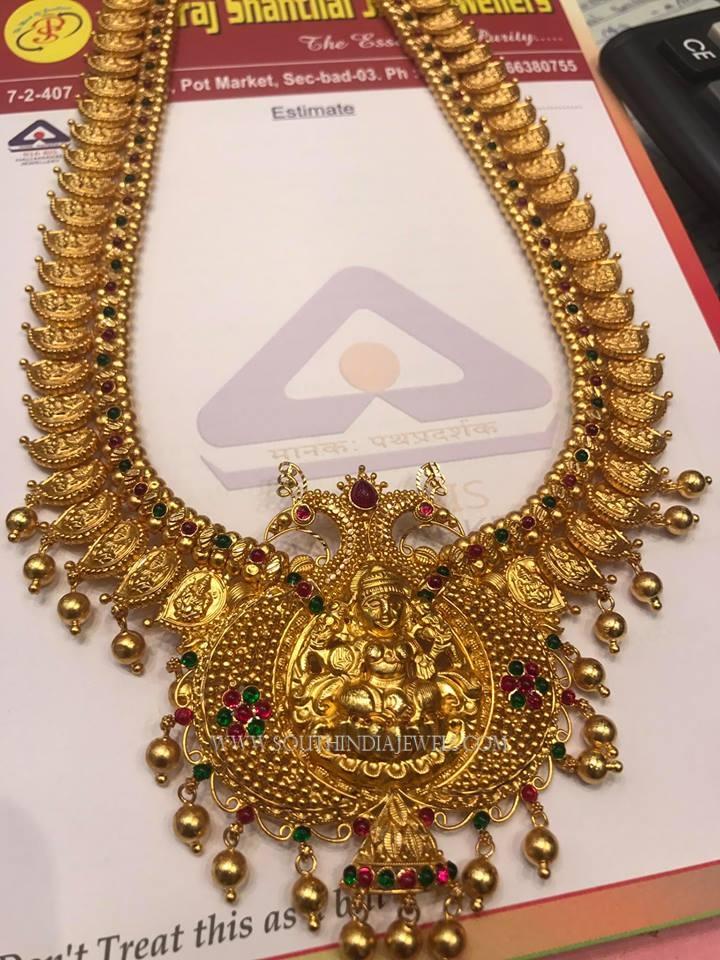 Gold Antique Lakshmi Haram