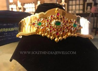 Gold Antique Vadanam From PSJ