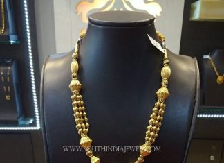 Gold Beaded Necklace And Jhumka