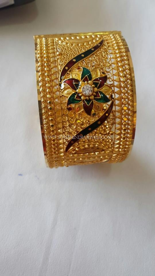 Big Gold Enamel Bangles