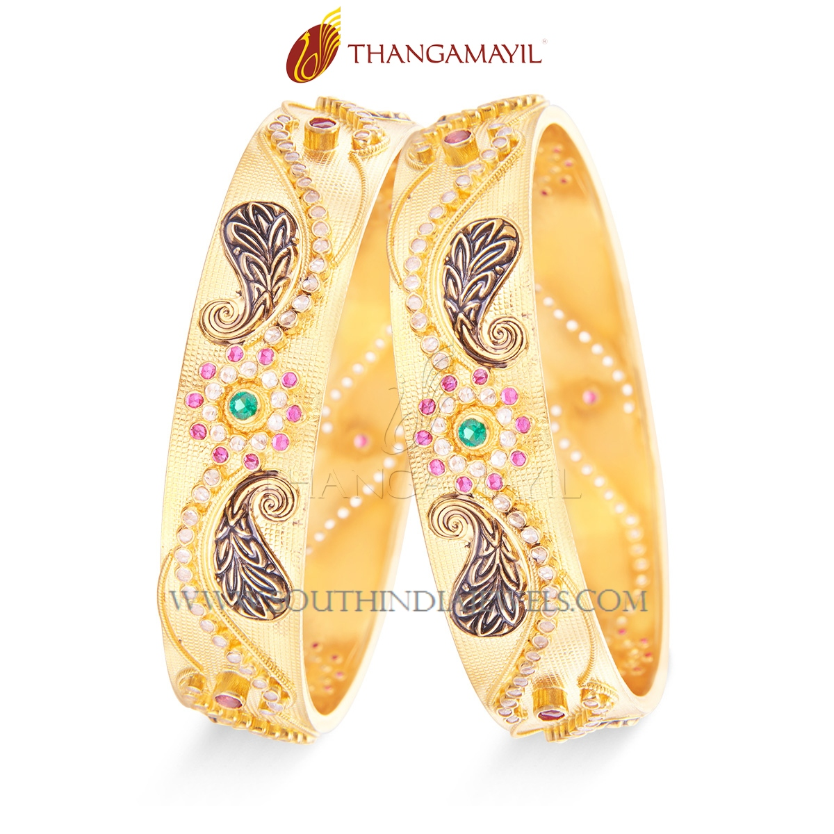 Gold Broad Designer Bangle