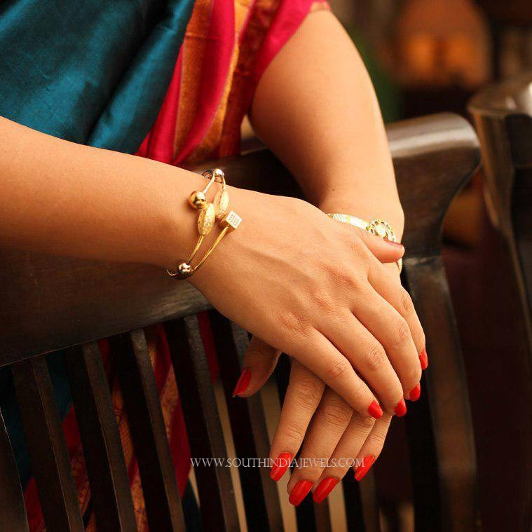 Gold Designer Cuff From Manubhai Jewellers