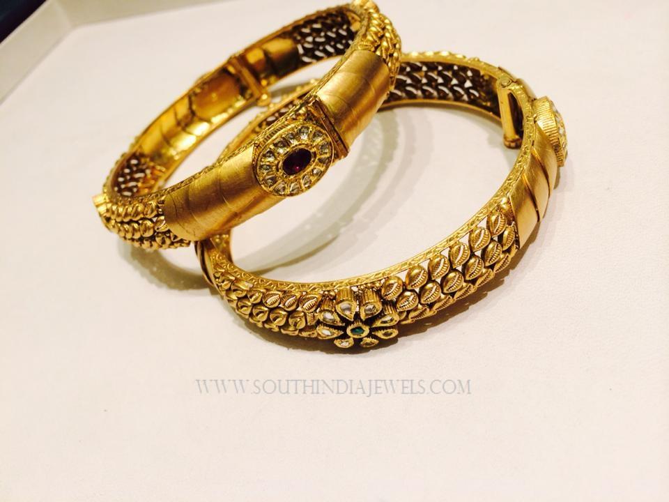 Gold Designer Bangles From K.N Jewellers