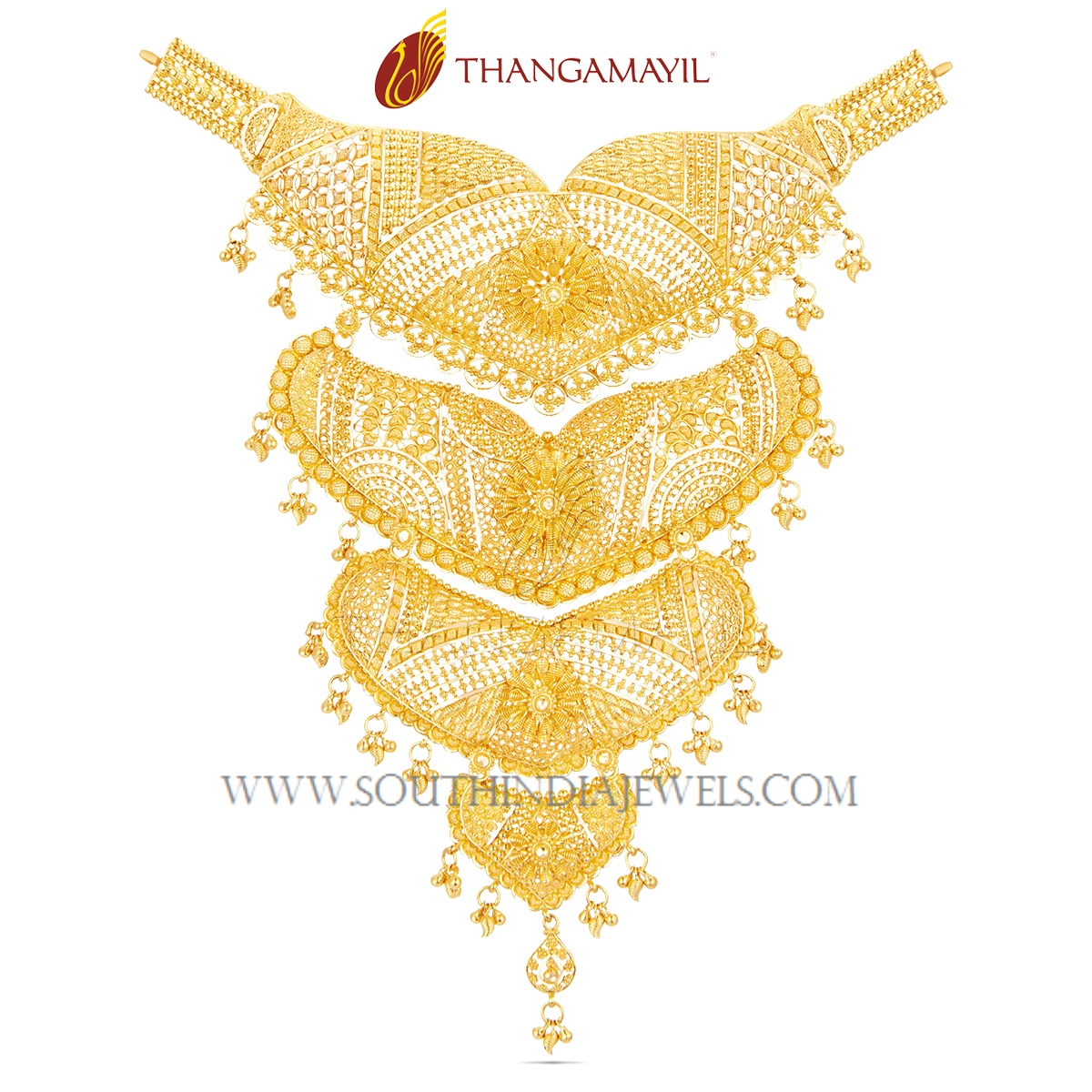 Gold Layered Necklace from Thangamayil