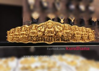 Gold Plated Lakshmi Waist Belt