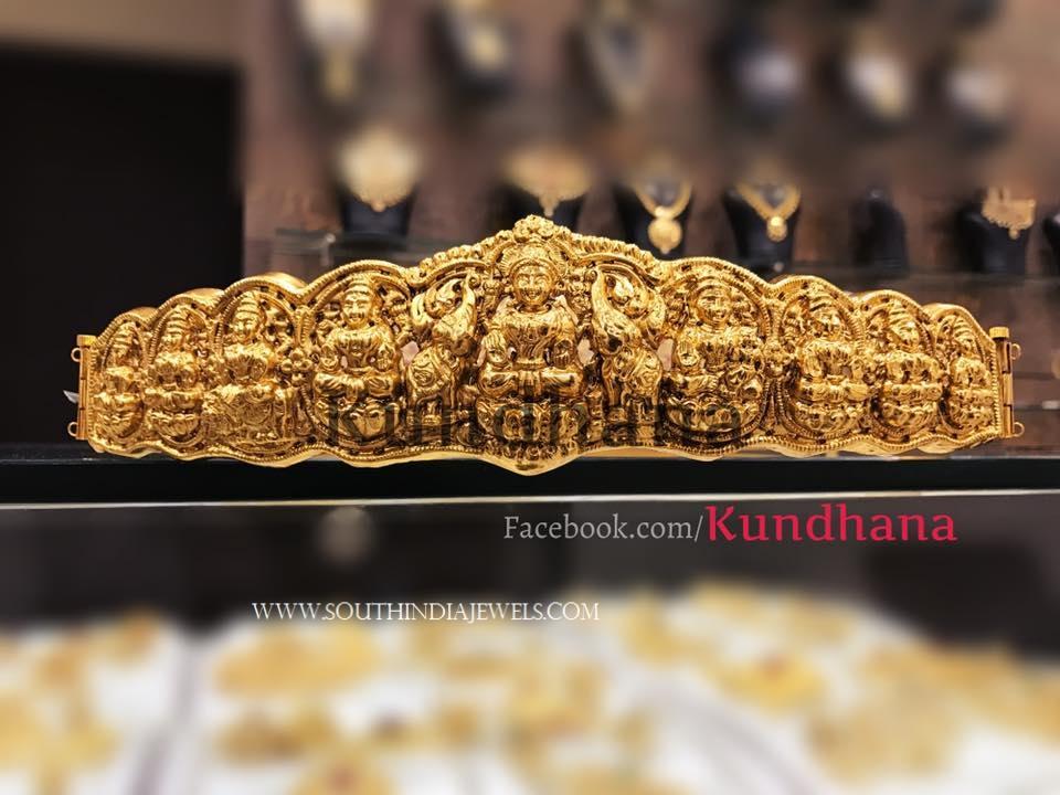 Gold Plated Lakshmi Waist Belt