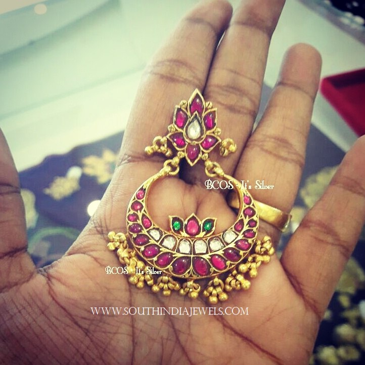 Gold Plated Ruby Chandbali