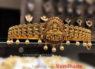 Gold Plated Ruby Emerald Vadanam