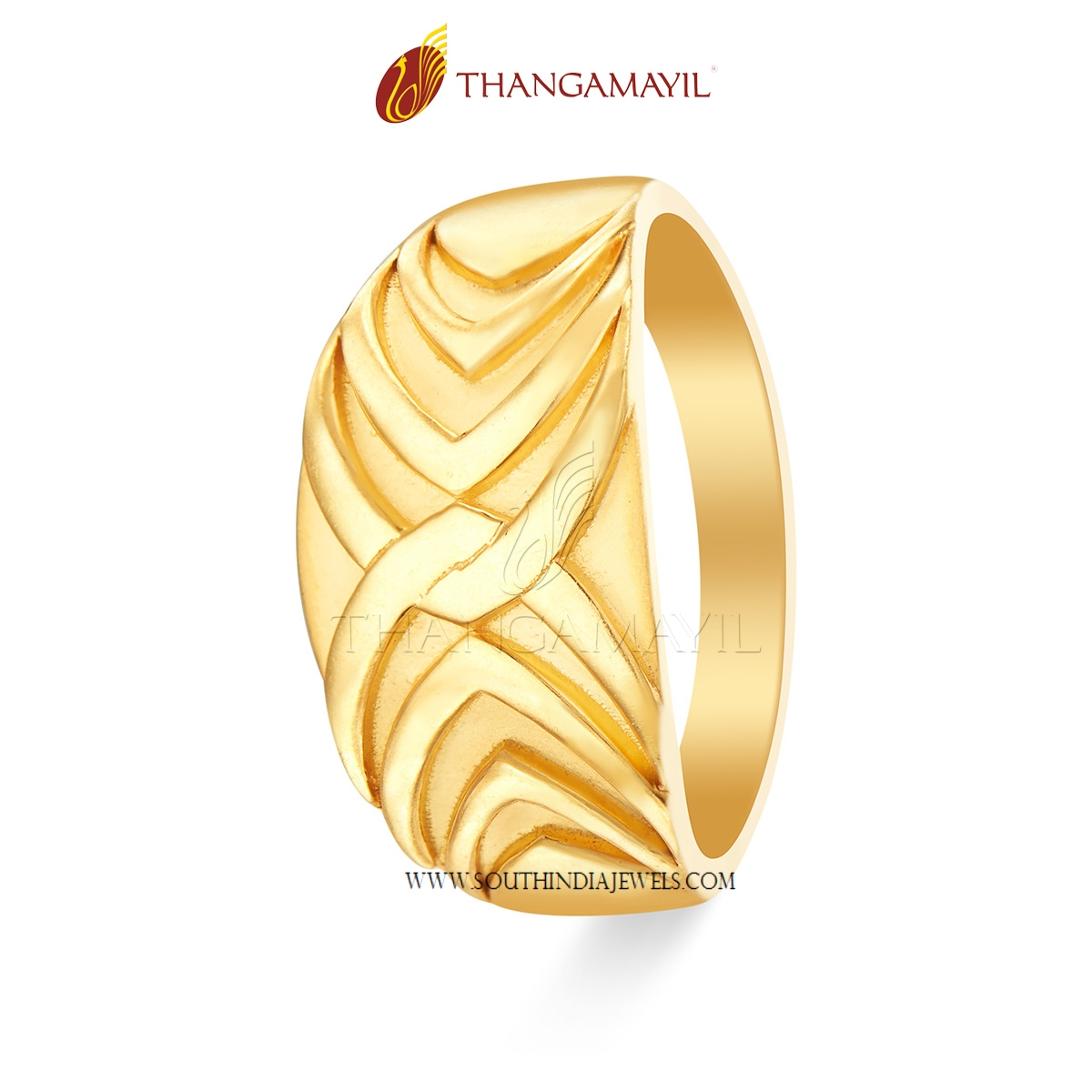 Gold Ring Design From Thangamayil Jewellery