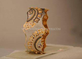 Designer Gold Rhodium Coated Bangle