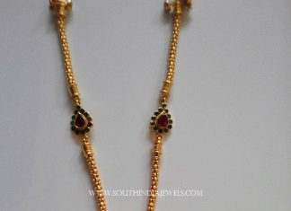 Gold Ruby Chain Necklace