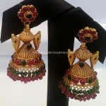 Gold Antique Jhumka From New Vasavi Jewellers