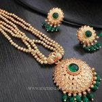 Green Necklace Set With Earrings
