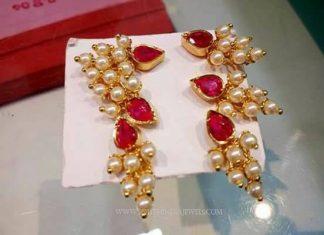 Imitation Grape Earrings