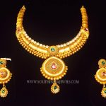 Matt Finish Gold Designer Necklace