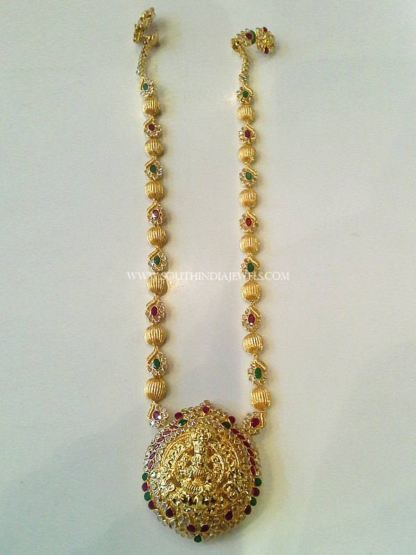 Medium Length Pachi Haram From New Sri Vasavi