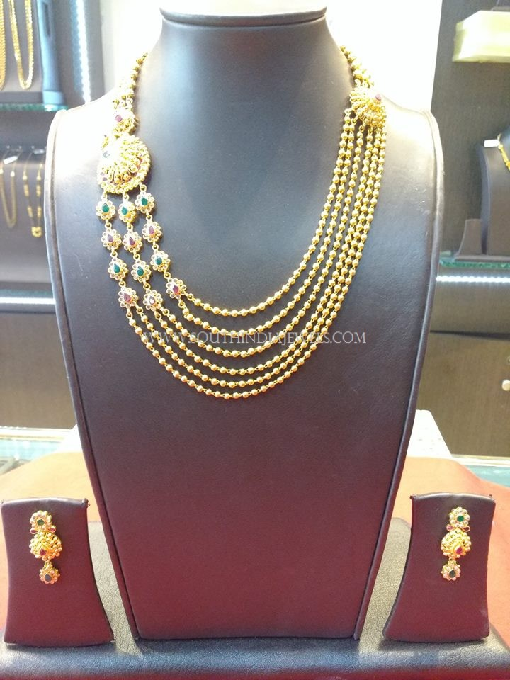 60 Grams Multilayer Gold Necklace Set