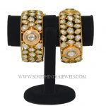 One Gram Gold Broad Kundan Bangle