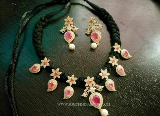 Rope Necklace With Rubies