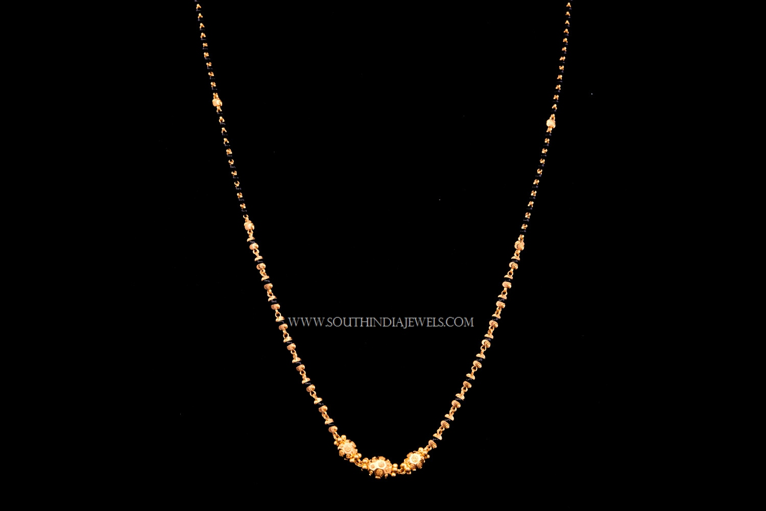 Simple 22K gold Chain Necklace ~ South India Jewels