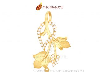 Simple Stone Pendant From Thangamayil
