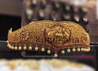 Antique Gold Plated Waist Belt
