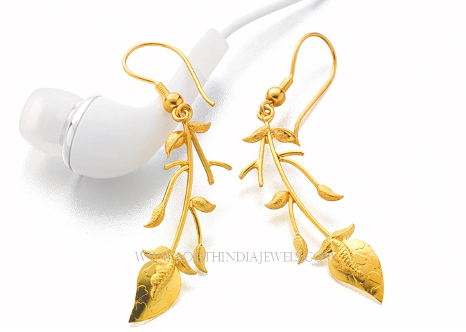 Simple Gold Earrings For Girls And Latest Designs Of Gold Earrings For Girls