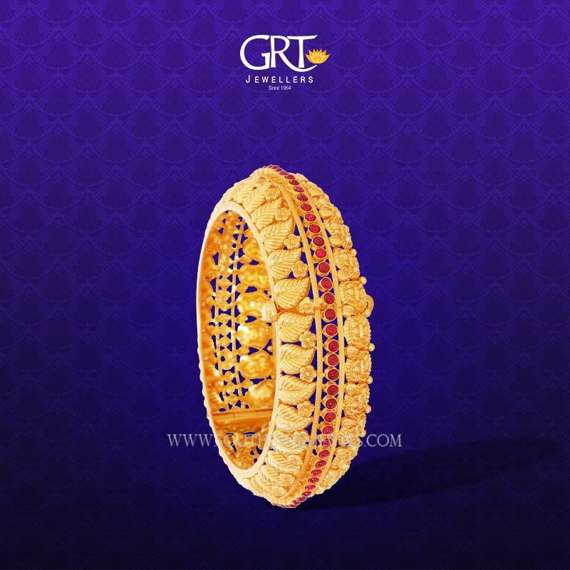 Latest Gold Antique Bangles From GRT Jewellers