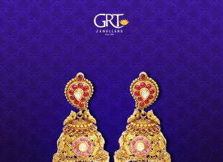 Gold Antique Jhumka 2017 Design From GRT Jewellers