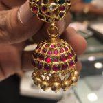 Gold Antique Ruby Jhumki