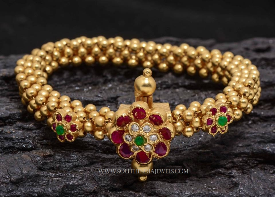 Gold Beads Bracelet from Aatman