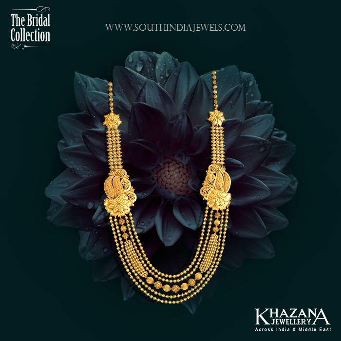 gold haram designs in khazana jewellery