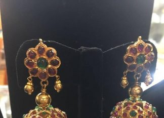 Gold Antique Kemp Jhumka