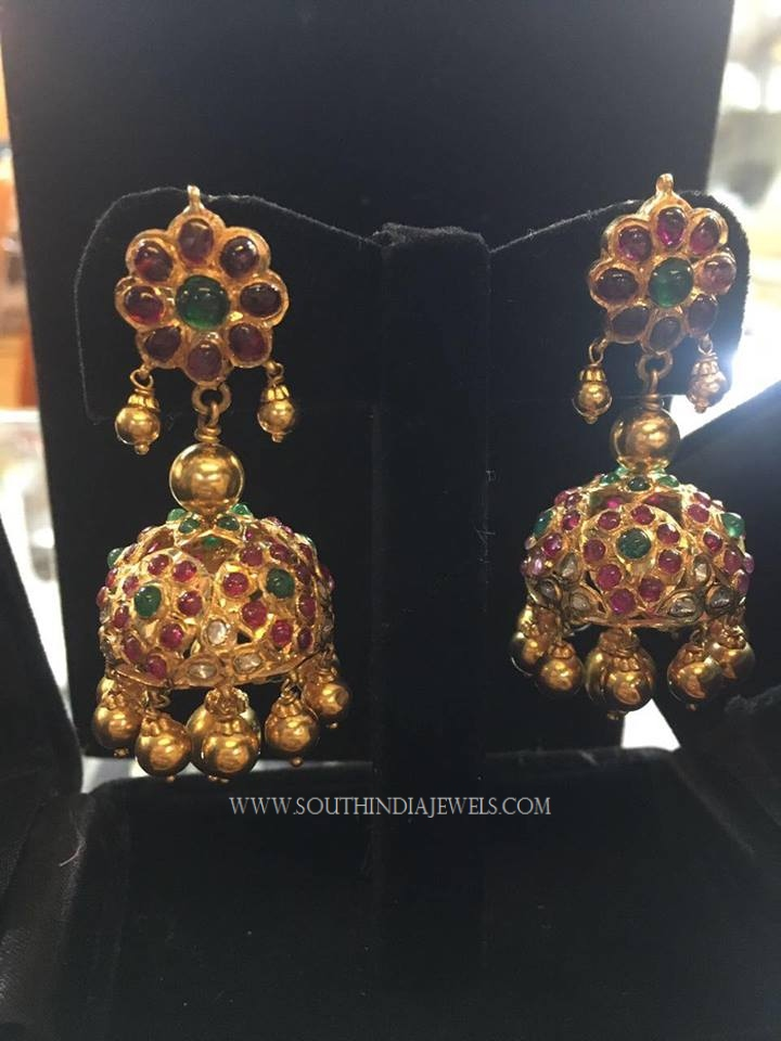 Gold Antique Kemp Jhumka