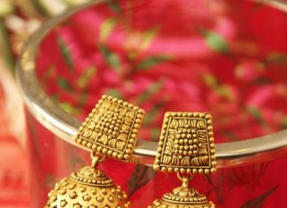 Gold Matt Finish Jhumka