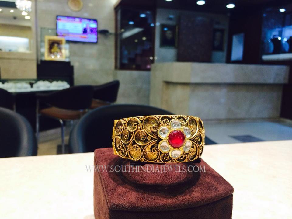 Gold Ruby Kada Bangle Model