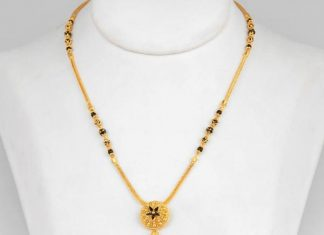 gold small mangalsutra designs with price